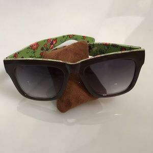 Anthropologie floral sunglasses